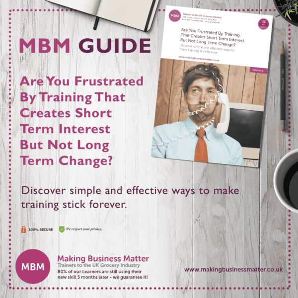 MBM Guide infographic for training that doesn't create long term change