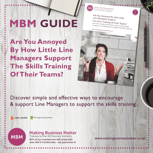 MBM Guide for lack of training skills from line managers