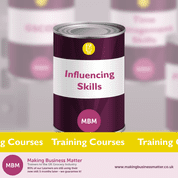 Purple tin with Influencing Skills on label
