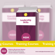 Purple carton with Leadership Skills on label