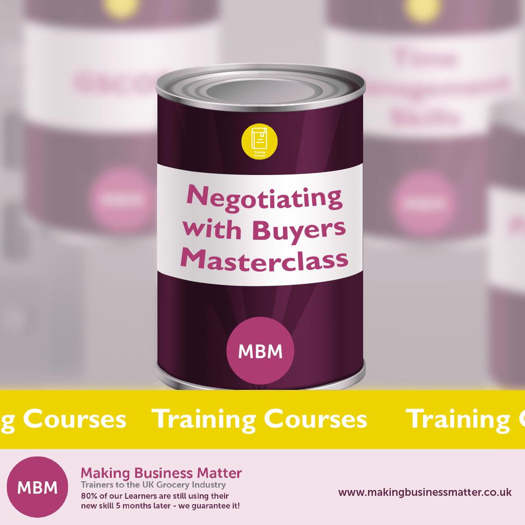 A tin can advertising a MBM masterclass