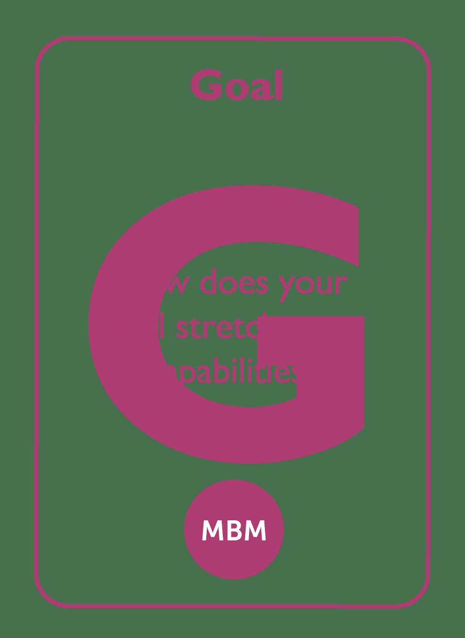 Coaching card titled Goal