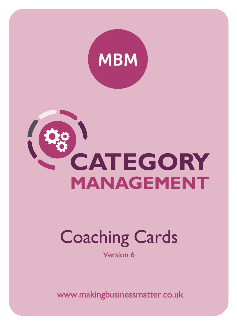 Front of category management coaching card