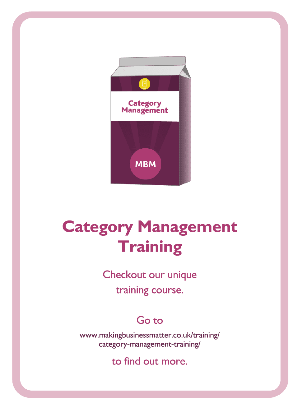 Negotiation coaching card titled Category management training