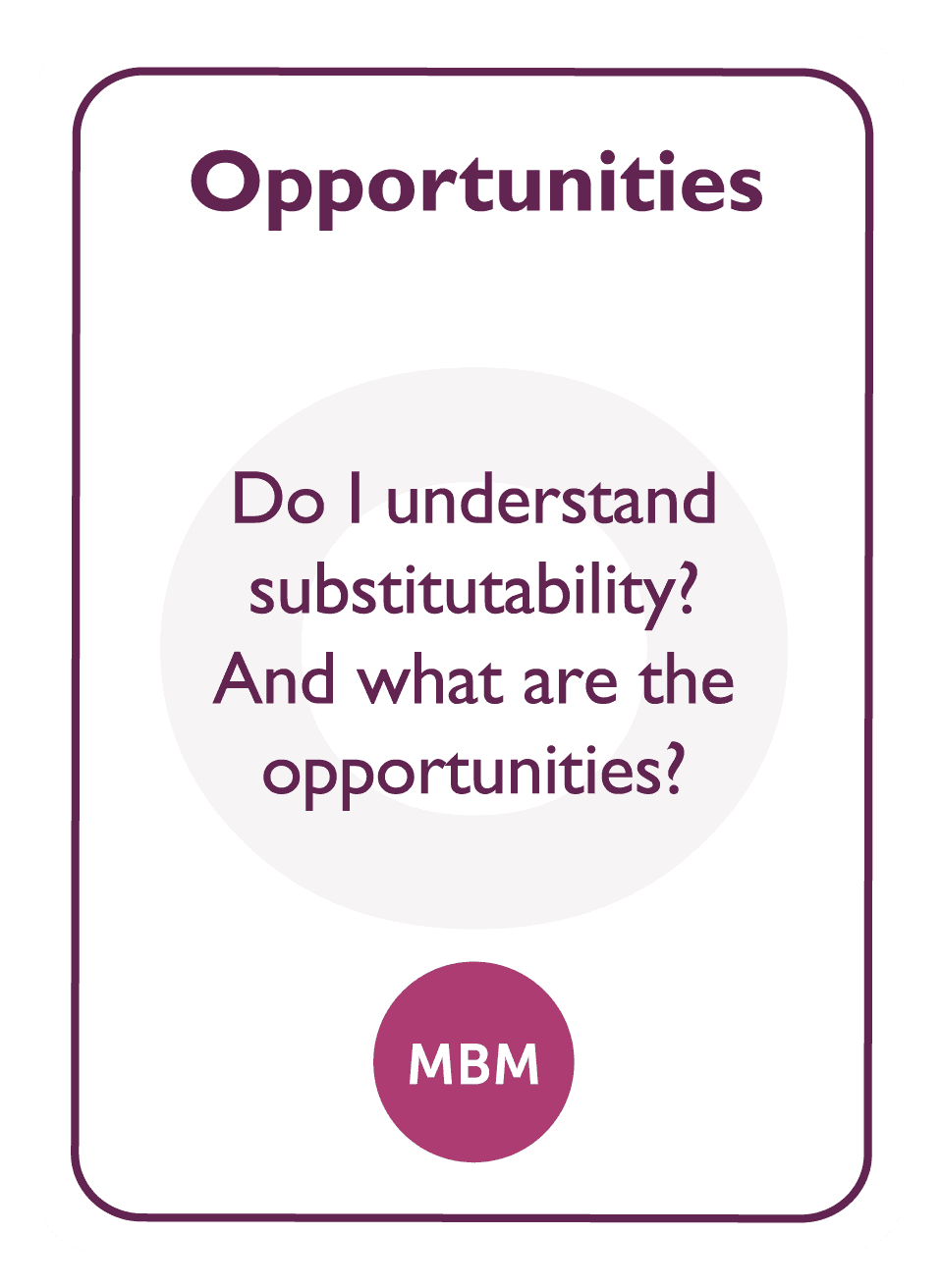 Negotiation coaching card titled Opportunities