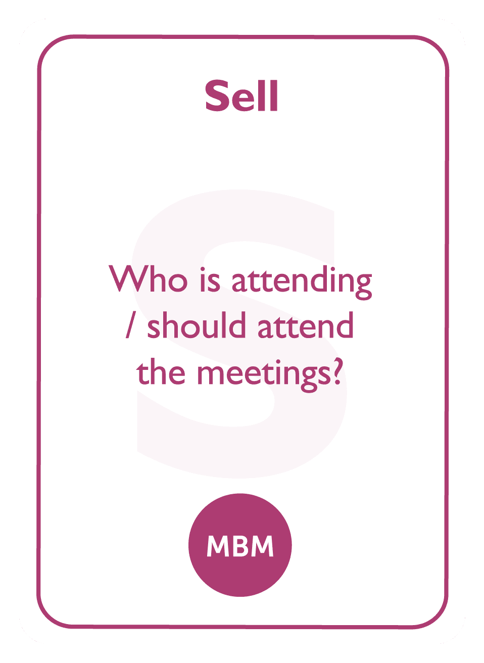 Negotiation coaching card titled Sell