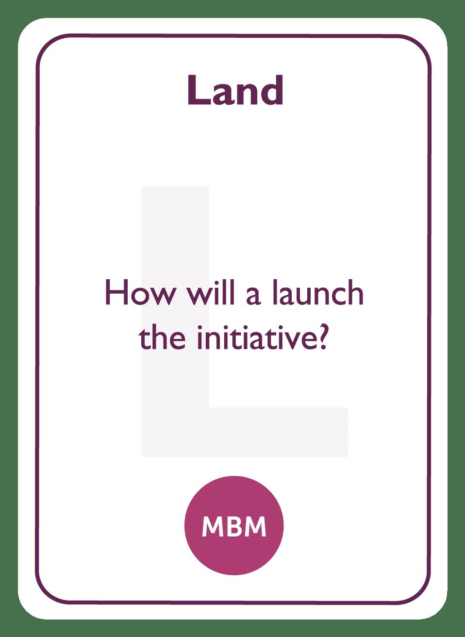 Negotiation coaching card titled Land