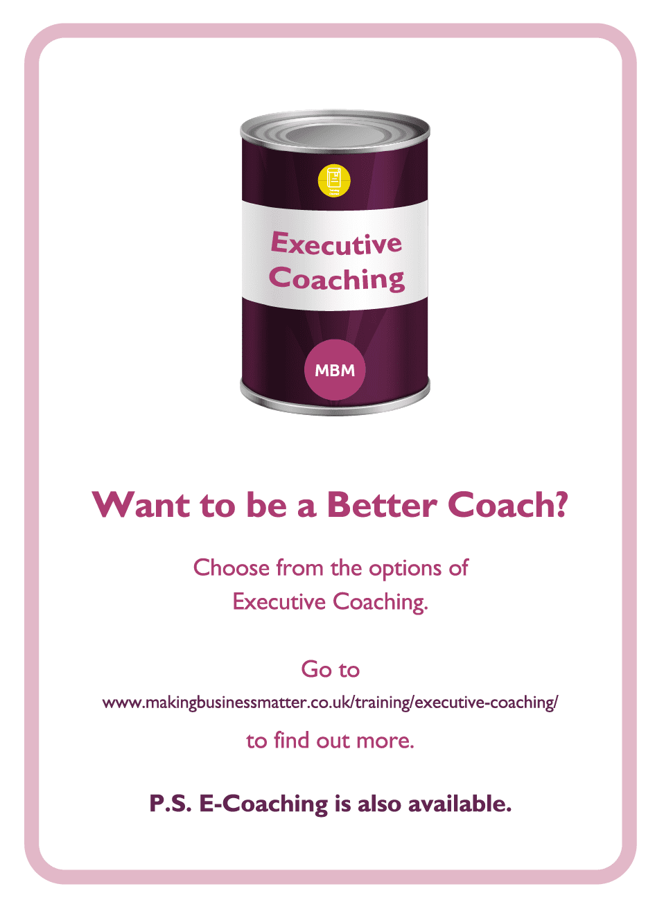 Negotiation coaching card titled want to be a better coach?