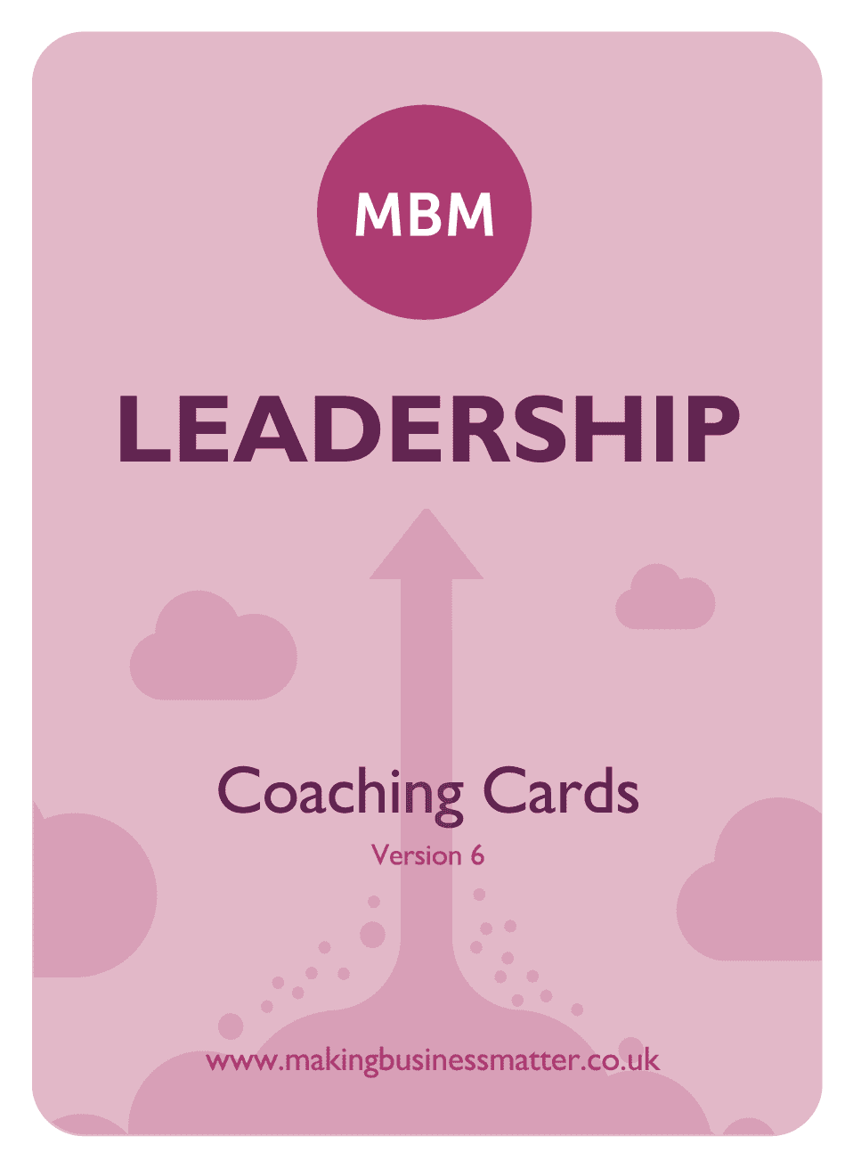 Front of coaching card with Leadership