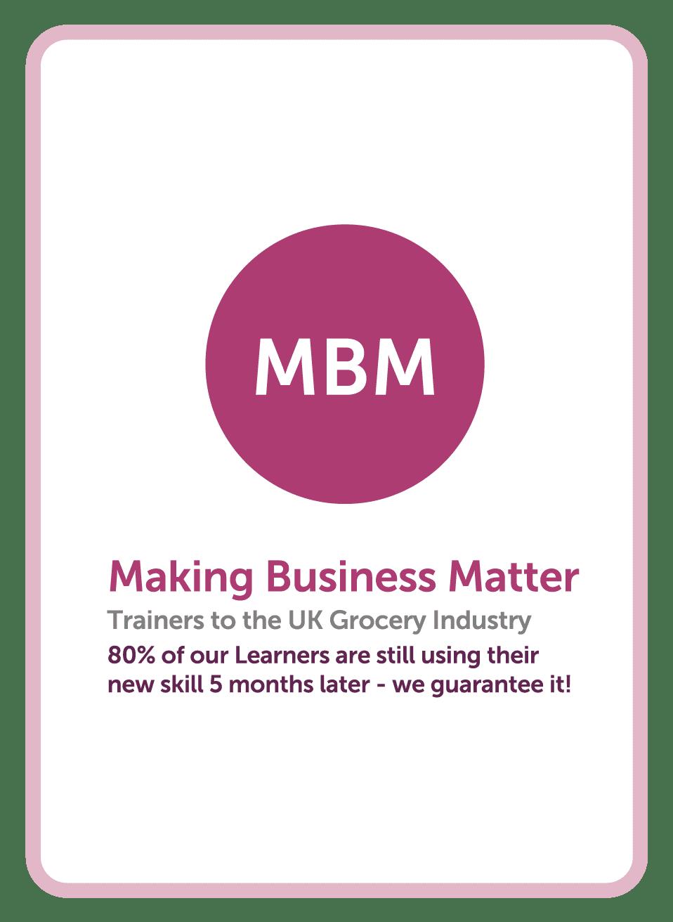 Coaching card MBM brand