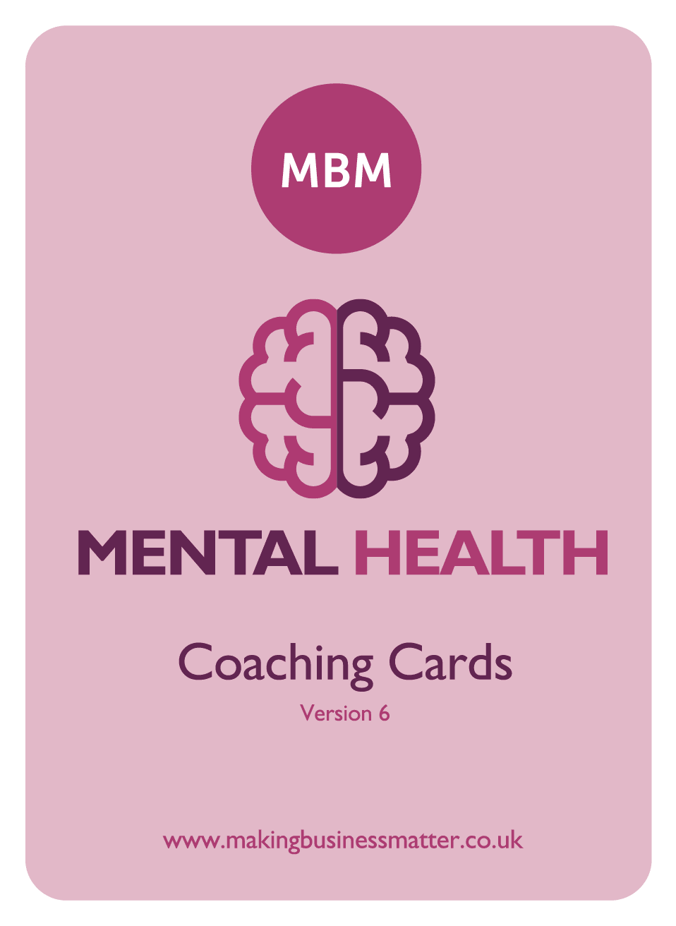 Front of a Mental health coaching card
