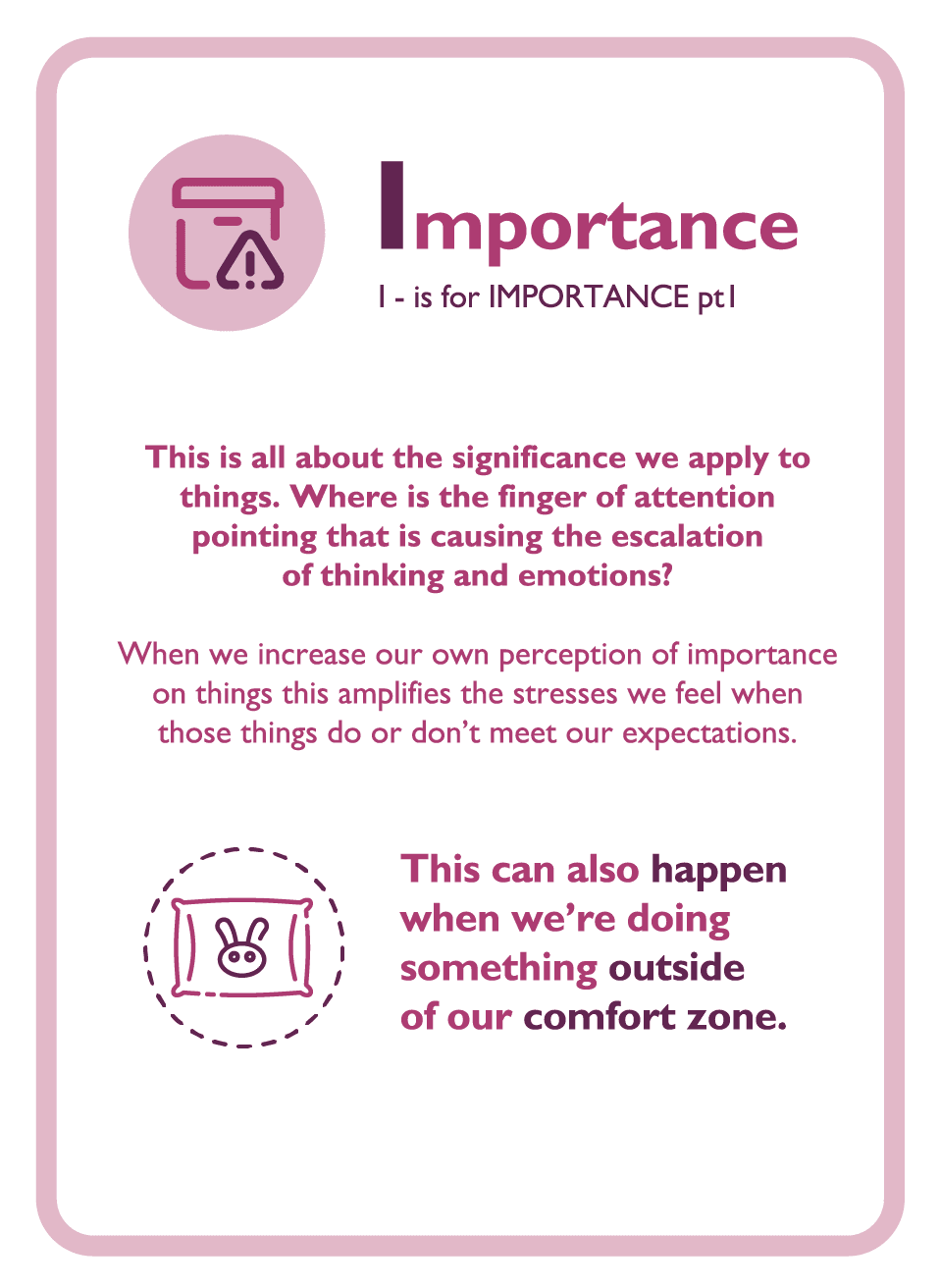 Coaching card titled Importance