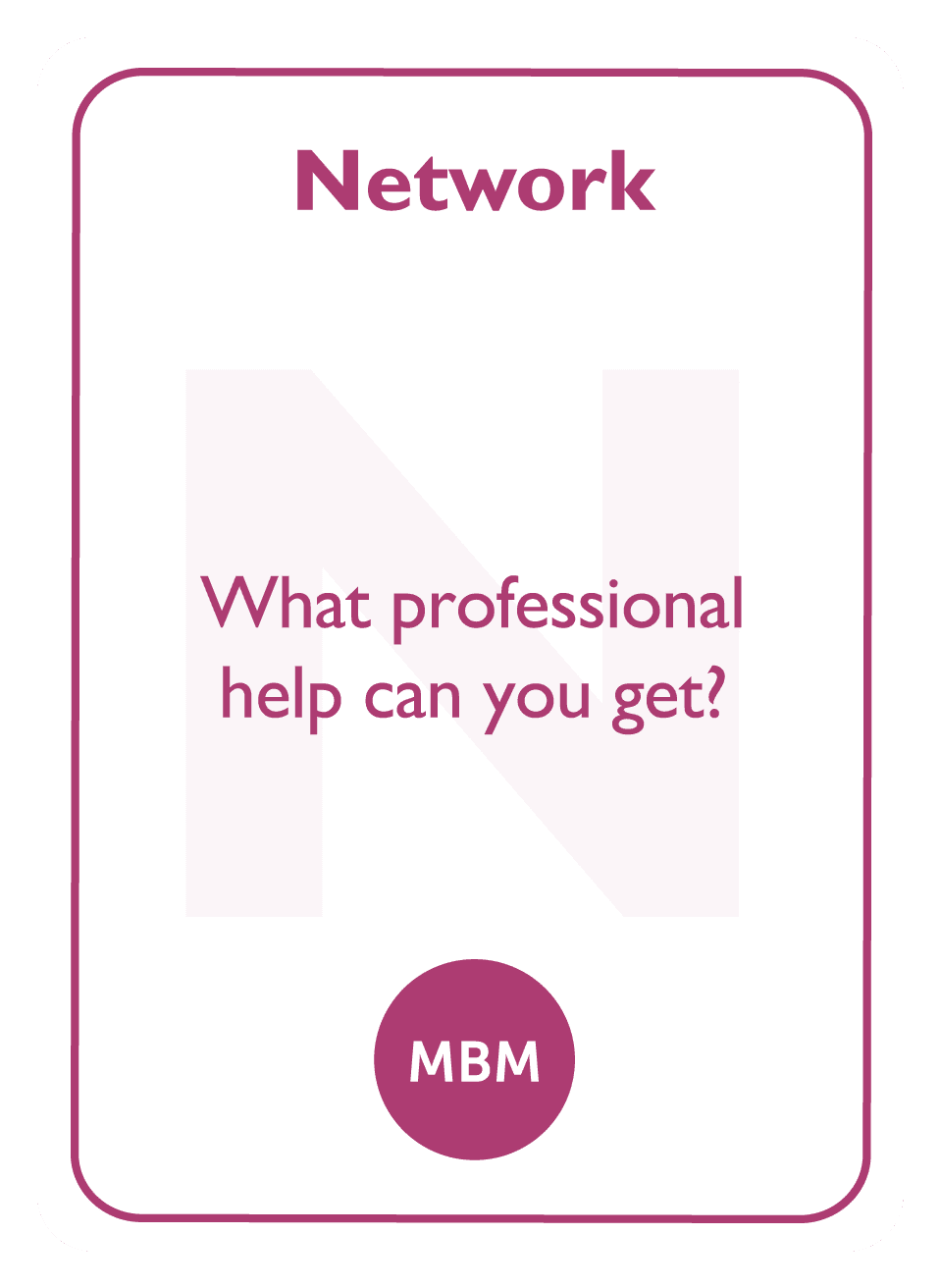 Coaching card titled Network