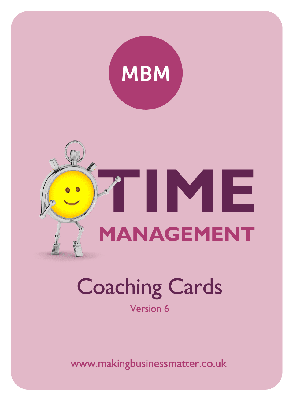 Front of Time Management coaching card