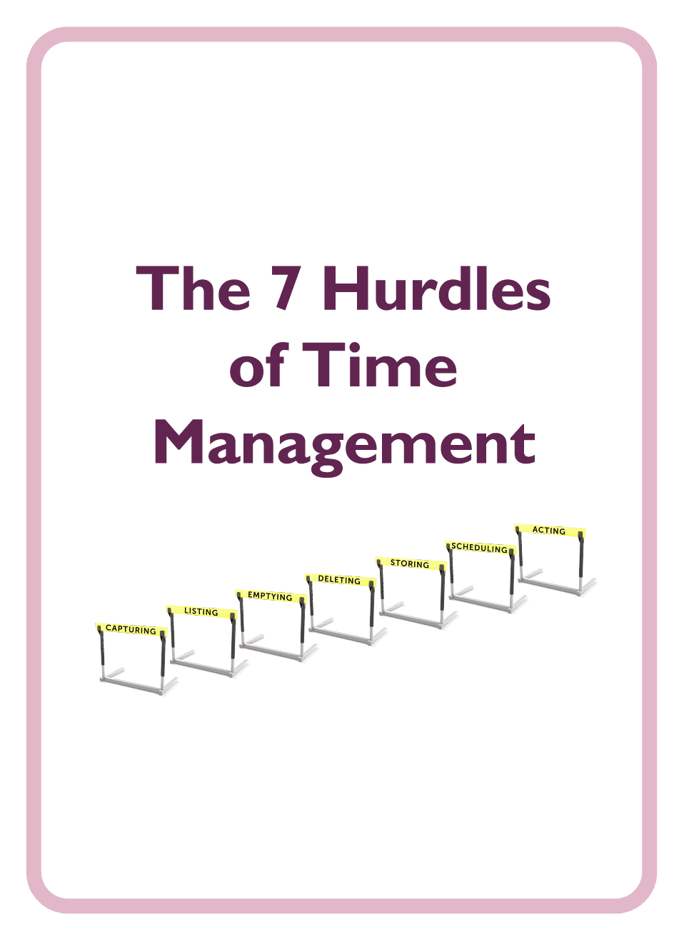 Coaching card titled The 7 Hurdles of Time Management