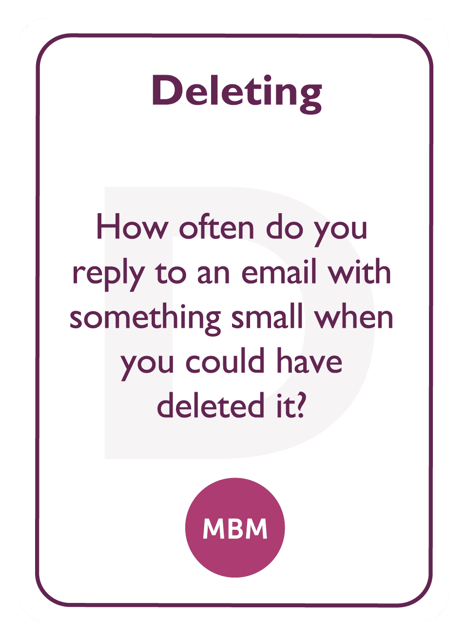 Coaching card titled Deleting