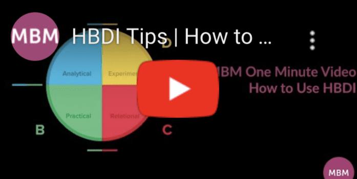 HBDI Tips