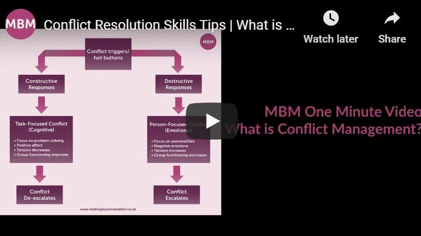 Conflict Resolution Skills vid