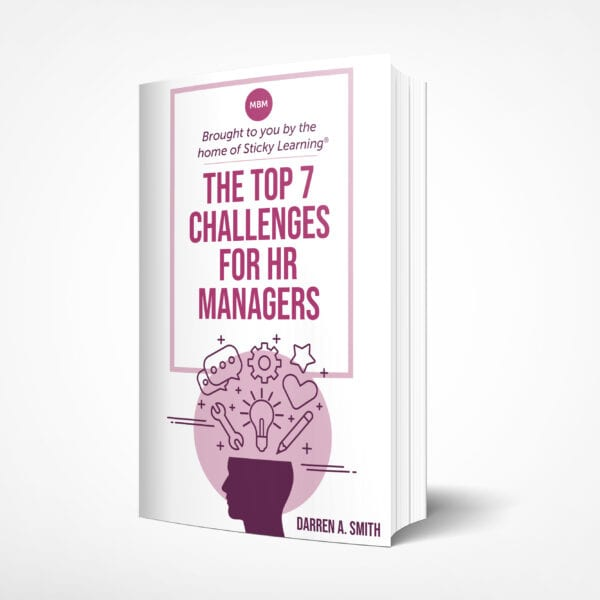 The book cover for The Top 7 Challenges for HR Managers