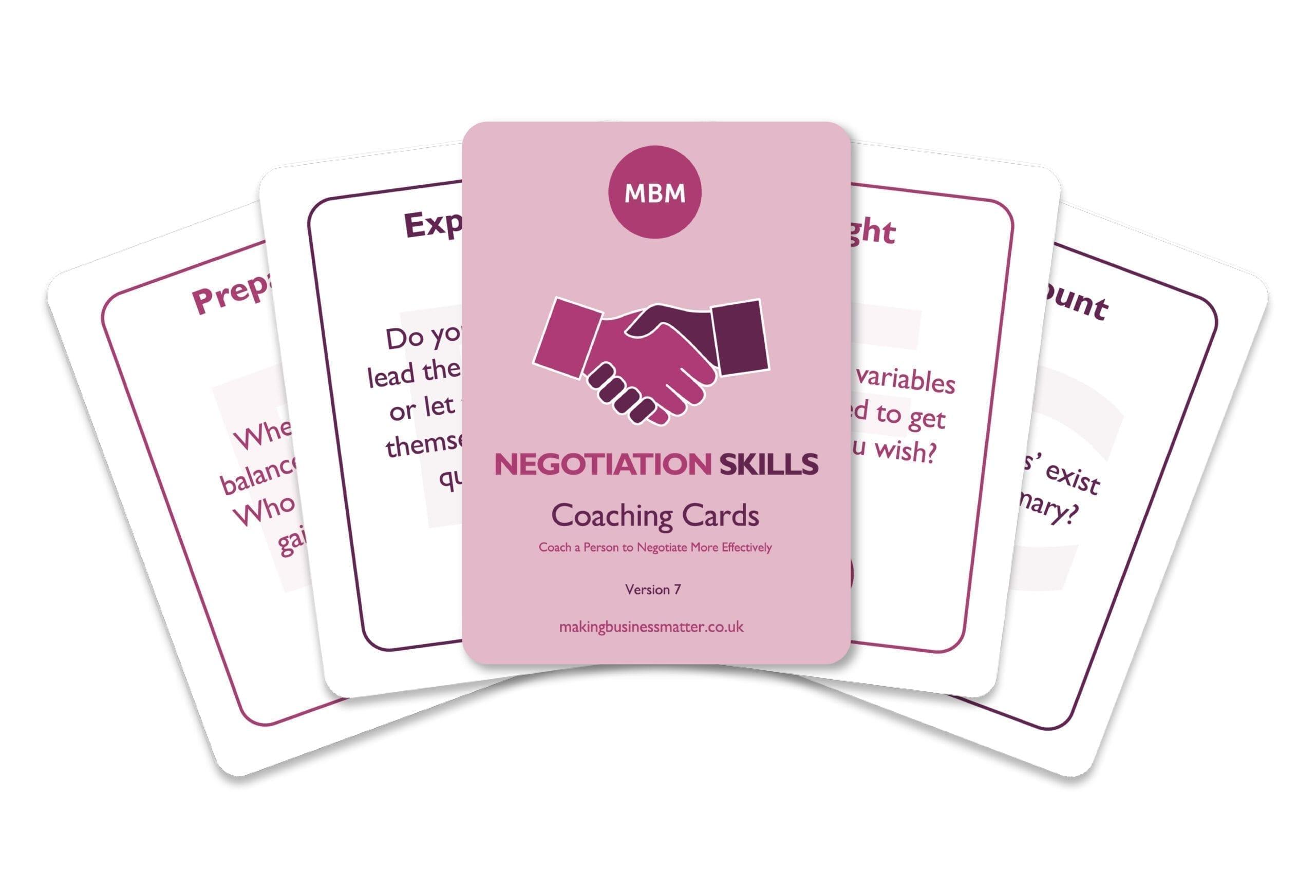 Negotiation Skills Coaching Cards