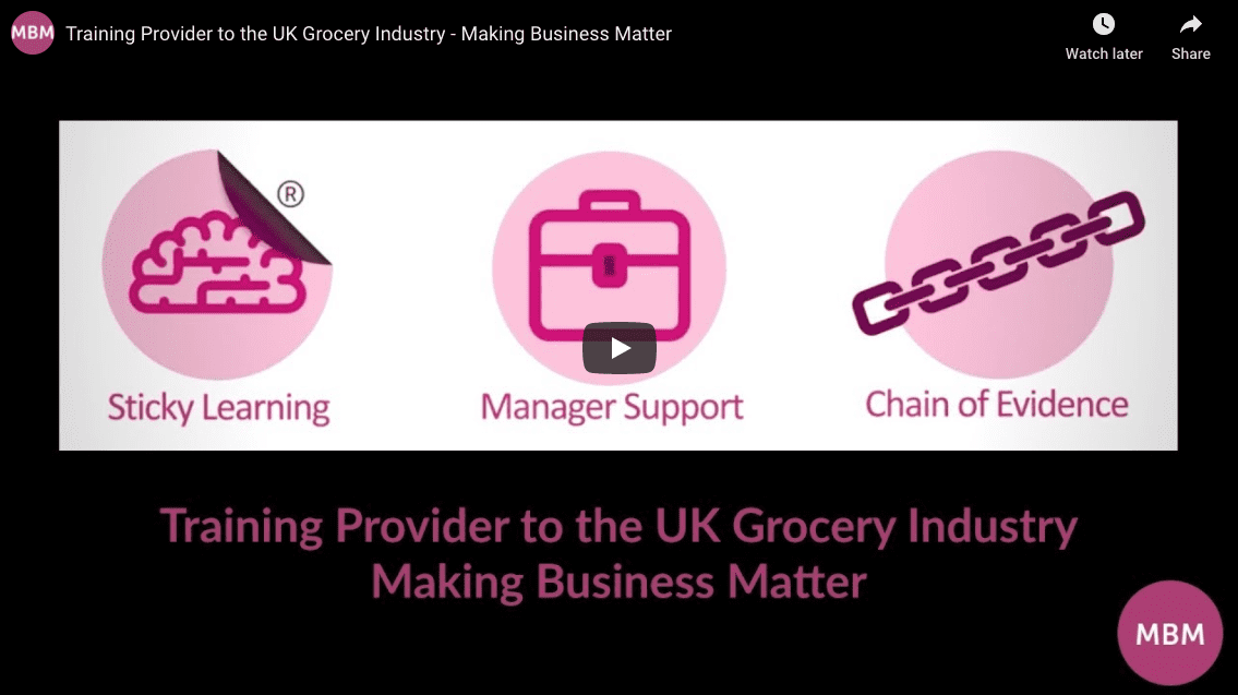 MBM a training provider to the UK Grocery Industry