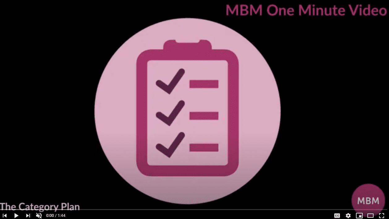 Screenshot of MBM YouTube video on The Category Plan