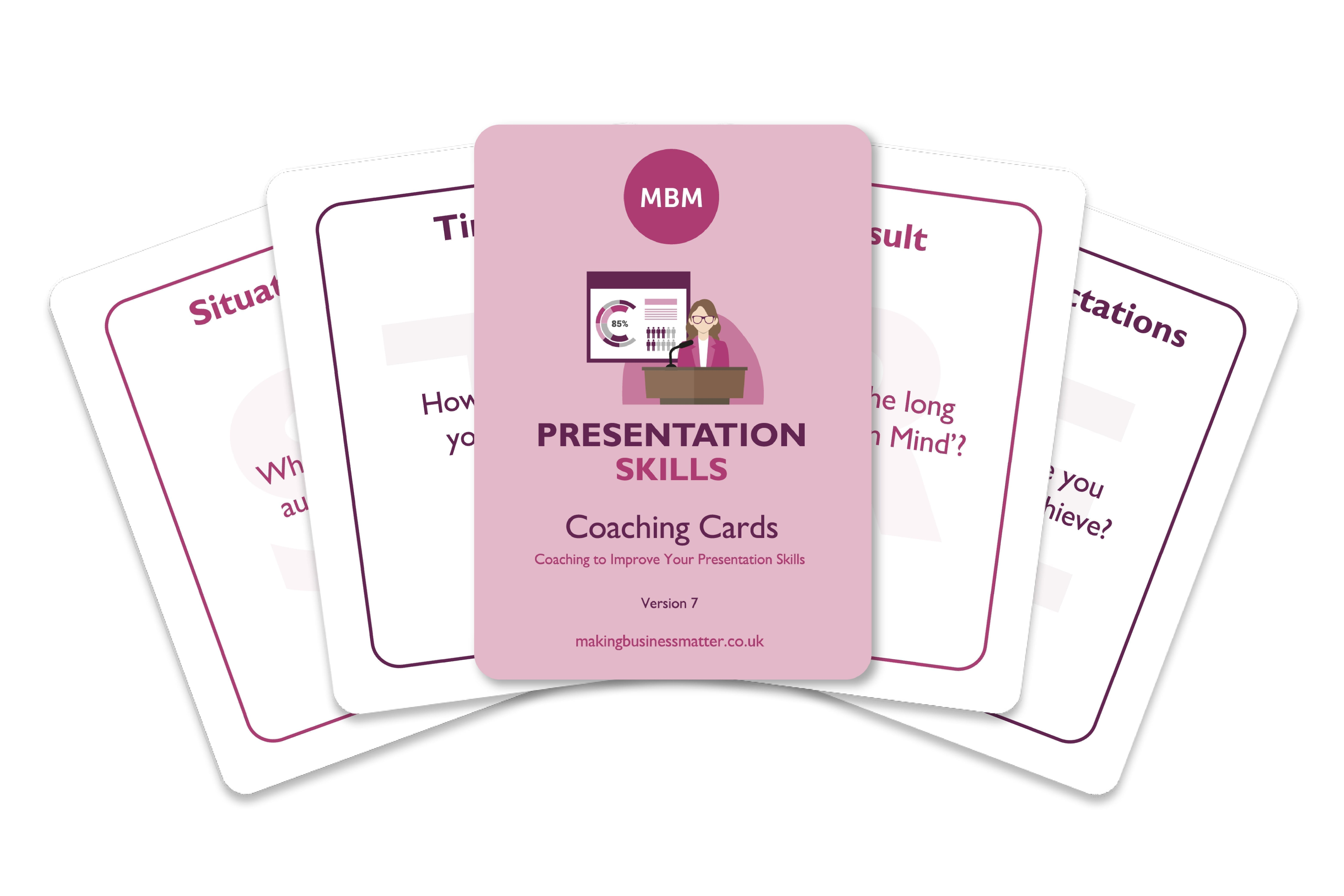 Presentation Skills Coaching Cards
