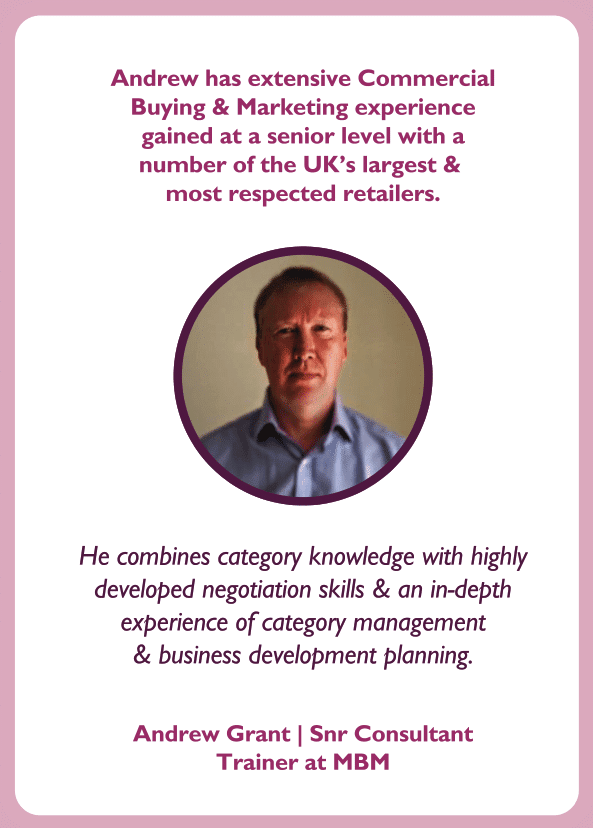 Negotiation skills coaching card with Andrew Grant