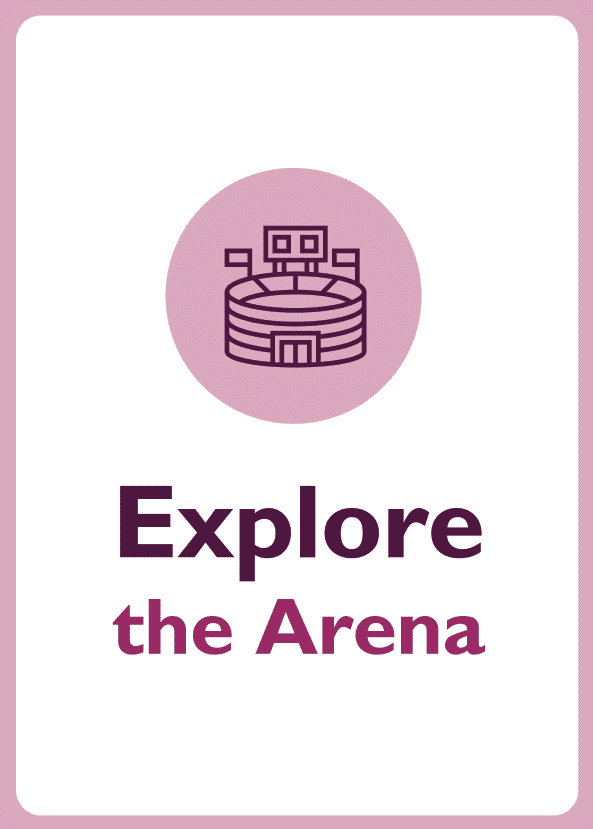 Negotiation skills coaching card titled Explore the arena