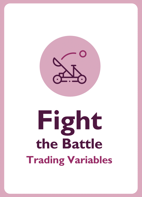 Negotiation skills coaching card titled Fight the Battle