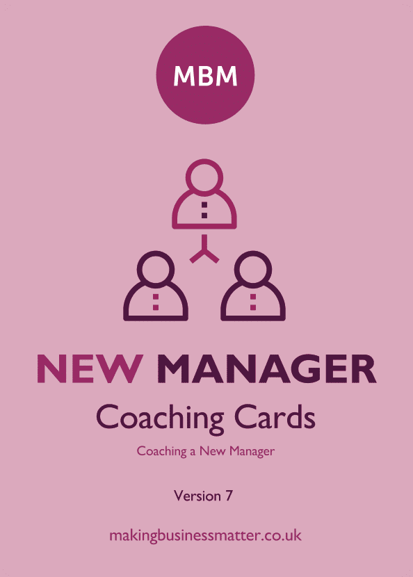 Front of New Manager coaching card