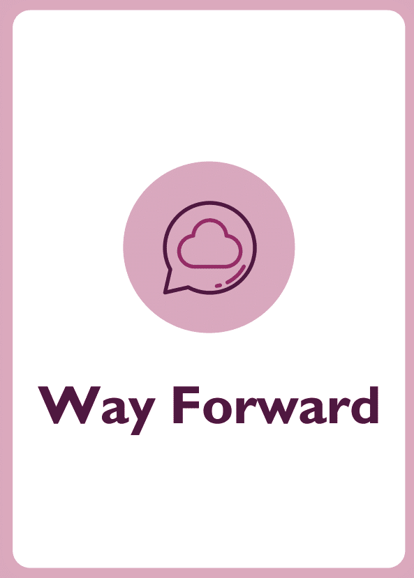 New Manager coaching card titled Way Forward