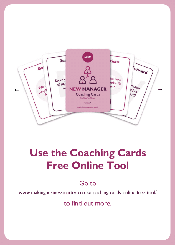 New Manager coaching card titled Free Online Tool