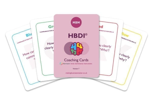 The HBDI Coaching Cards