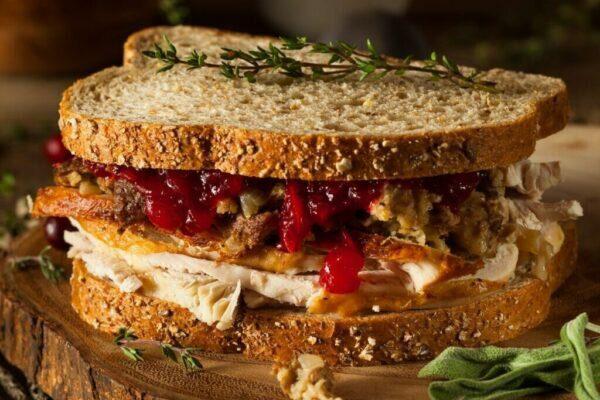 Homemade Leftover Christmas Sandwich