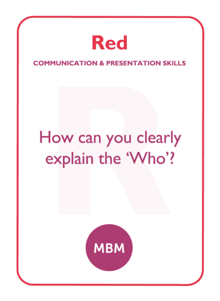 The red quadrant of the HBDI further explored on a coaching card