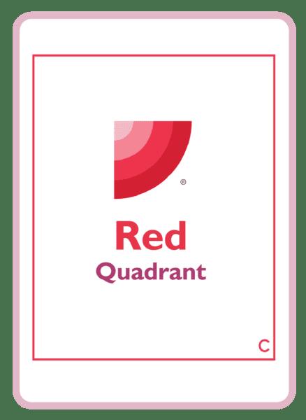 HBDI coaching card titled Red quadrant
