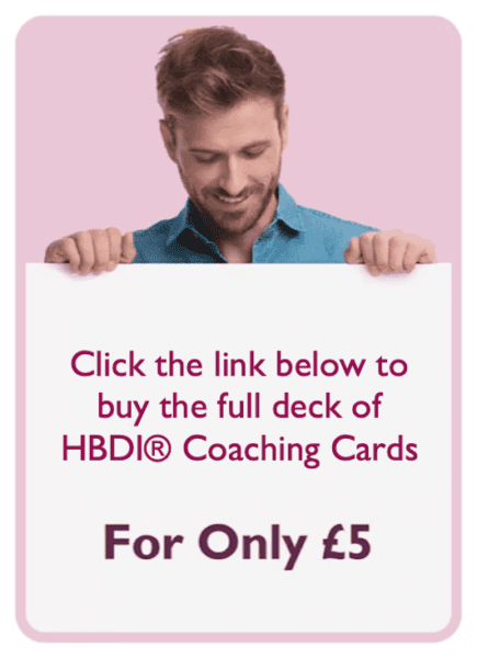 HBDI coaching card titled For only £5