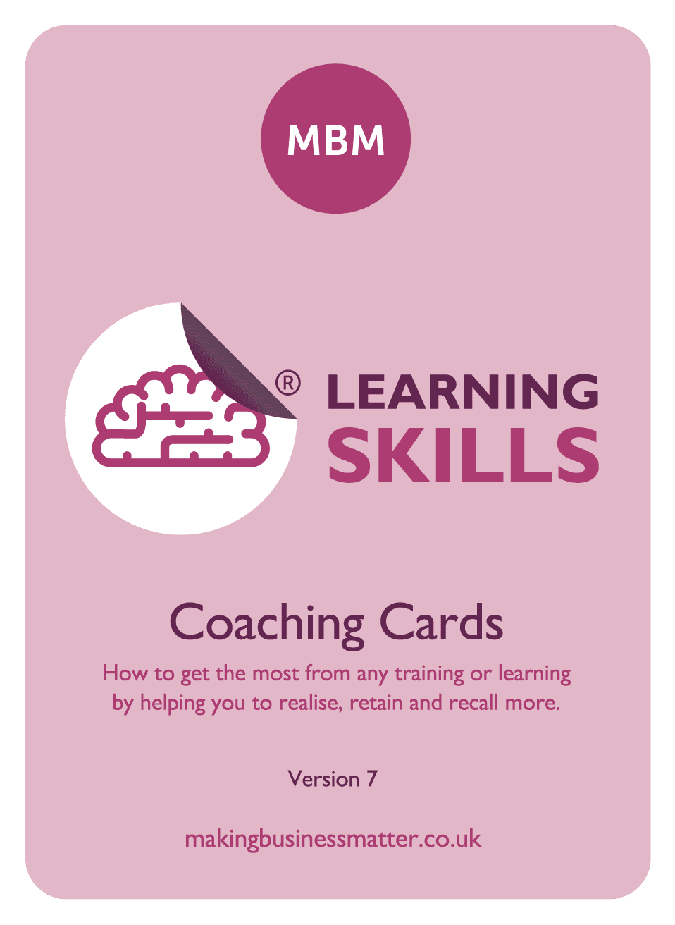 learning skills coaching cards