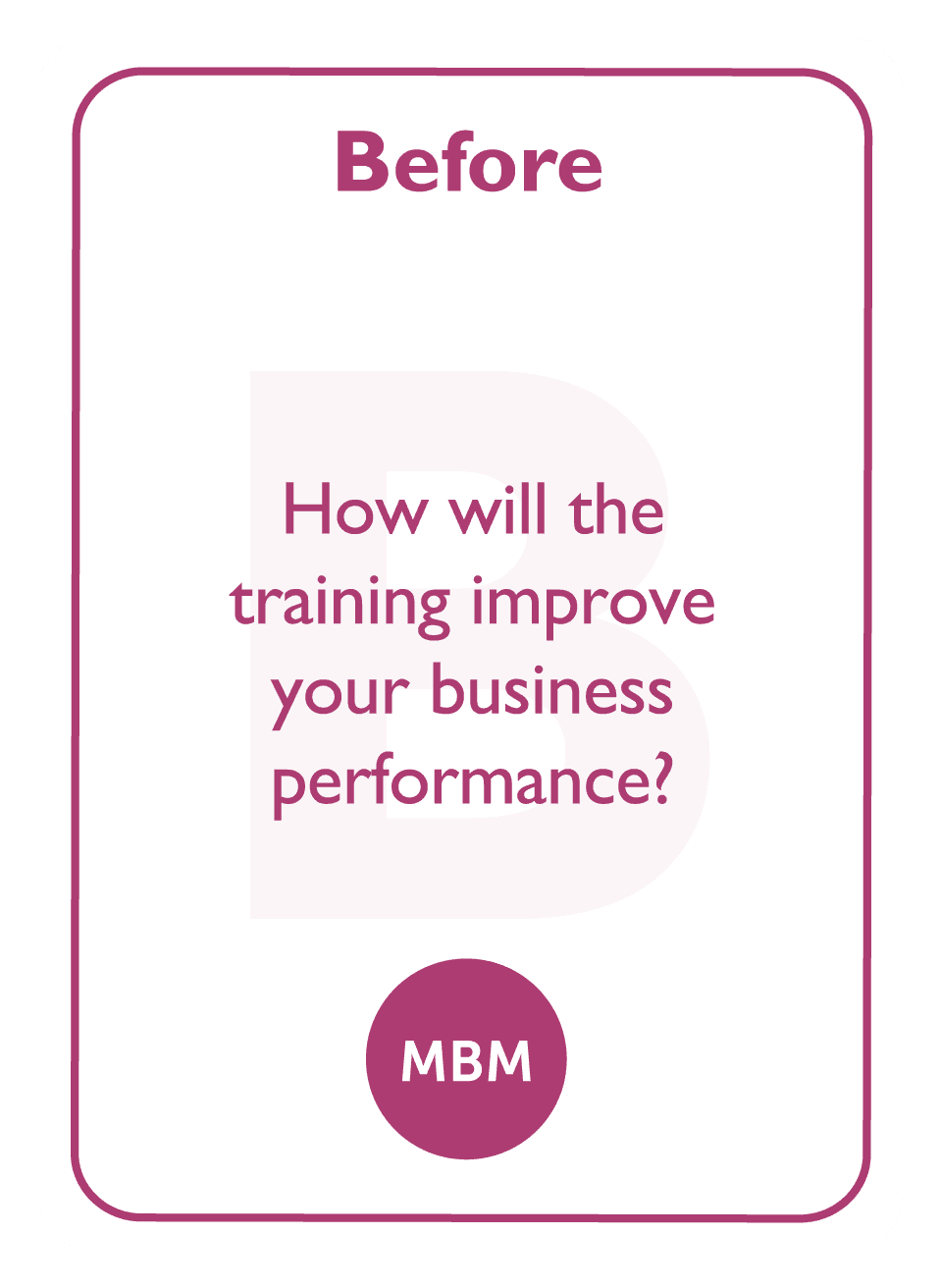 Learning to Learn coaching card titled Before