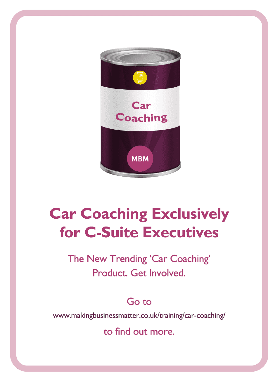 Learning to Learn coaching card titled Car Coaching