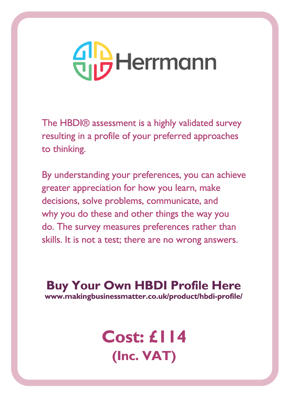 Learning to Learn coaching card titled Hermann
