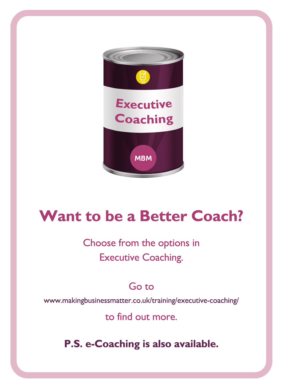 Learning to Learn coaching card titled Better Coach