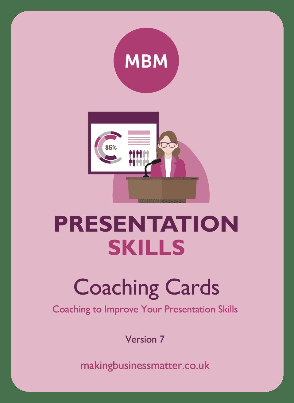 Coaching card titled Presentation Skills