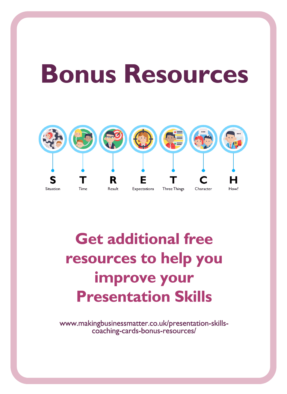 Coaching card titled Bonus Resources