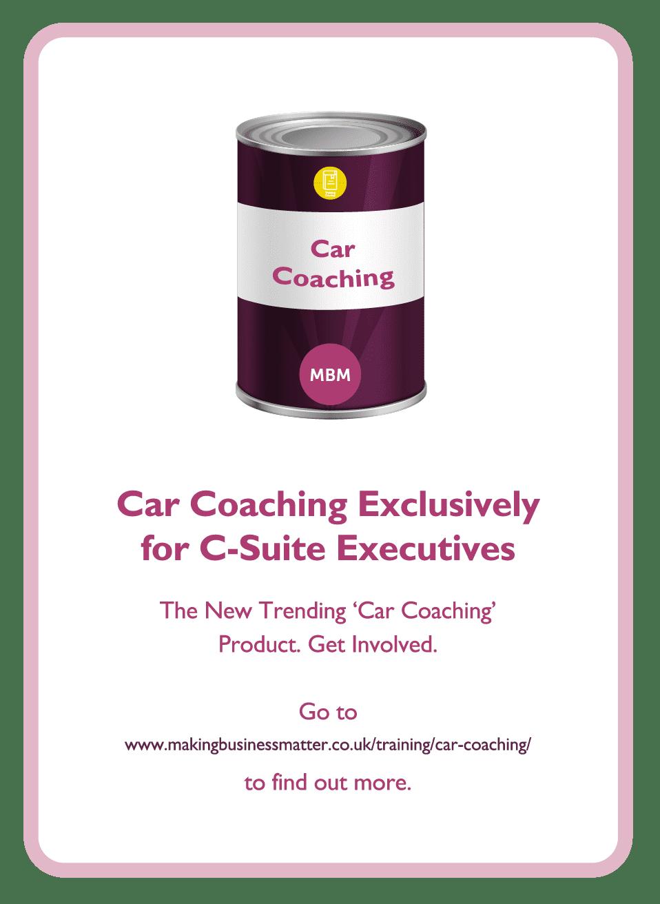 Coaching card titled Car coaching