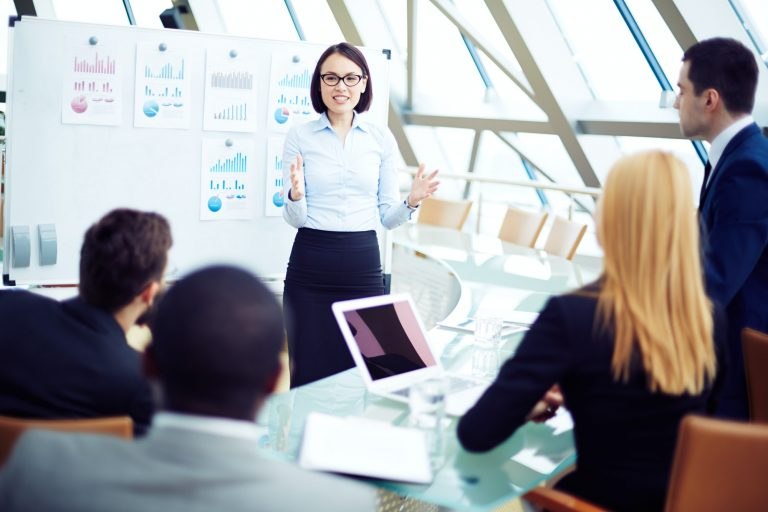 Business presentation, apply HBDI
