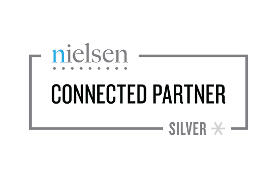 The words Connected Partner written in black in grey box