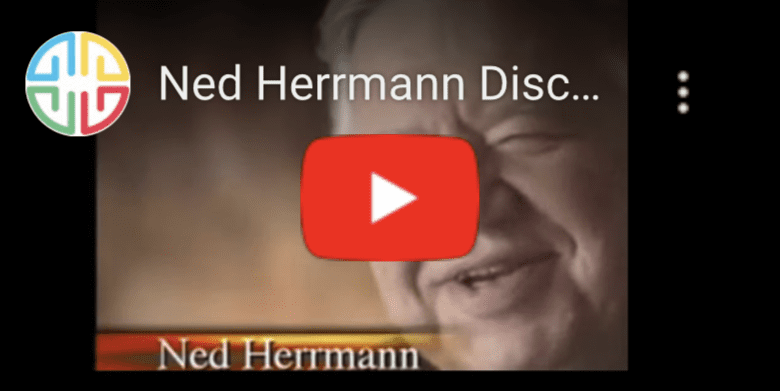 Screenshot of YouTube video featuring Ned Herrmann