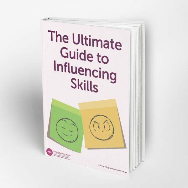 Book cover with title The Ultimate Guide to Influencing Skills